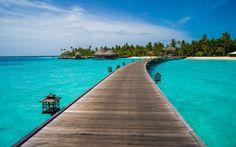 HD wallpaper: brown wooden bridge dock photography between sea, maldives, constance, maldives, constance Secluded Honeymoon, Honeymoon Island, Best Honeymoon, Romantic Honeymoon, Visit Maldives, Maldives Resort, Resort Spa, Maldives Destinations, Amazing Destinations