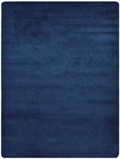 """Euro Collection Solid Color Area Rug Rugs Slip Skid Resistant Rubber Backing Machine Washable More Color Options (Navy Blue, 5 x 7 (4'11' x 6'6""""))"""