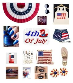 """""""#july4th"""" by emmaraej on Polyvore featuring Jack Rogers and TWIG & ARROW"""