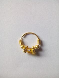 Beautifull gold filled nose ring for by Gemstonebeadsfinding