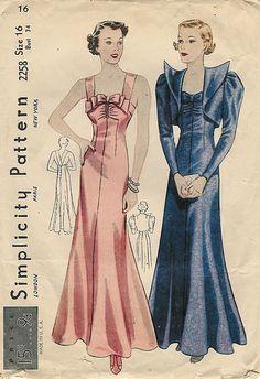 Simplicity 1930s Dress Pattern