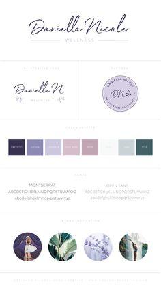 Branding Style Board for Daniella Nicole Web Design Studio, Blog Design, Logo Design Inspiration, Brand Design, Website Color Palette, Branding Template, 2 Logo, Business Card Design, Business Branding