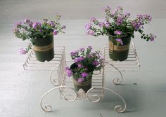 Vintage Tiered Plant Stand Metal Wire
