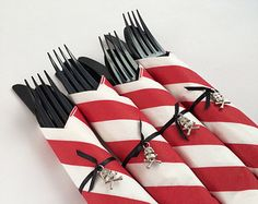 pirate wrapped cutlery - Google Search