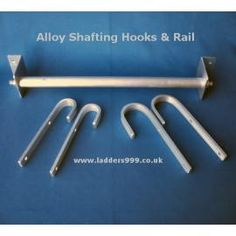 Alloy Shafting Hooks & Rail for ladder. Ship Ladder, Ladder Hooks, Bunk Bed Ladder, Loft Bunk Beds, Attic Ladder, Attic Office Space, Attic Spaces, House Ladder, Library Ladder