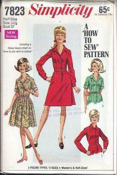 Simplicity 7823 Misses Shirt Dress Pattern by DawnsDesignBoutique, $11.99