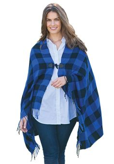 Cozy up in style with this toggle wrap poncho! #fashion #style