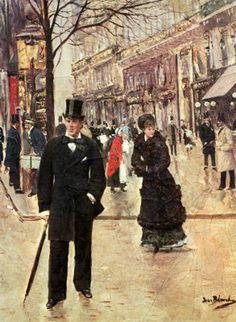 Jean Béraud (1849 – 1935) On the boulevard. 1895