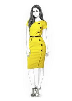 Robe - Patrons de couture #4342 Made-to-measure sewing pattern from Lekala with free online download. Ajusté, Pinces, Waist seam, Asymétrique, Boutonné, Col rond, Sans col, Manches courtes, Manches cousues, Jupe midi, Jupe droite, Poches brodées, Flap pockets