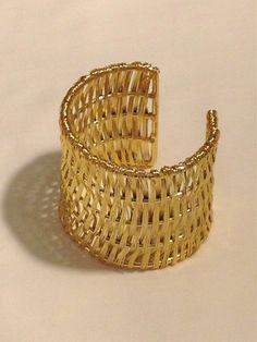 GS Woven Gold Cuff - LOVE - $22  www.scoutandmollys.com