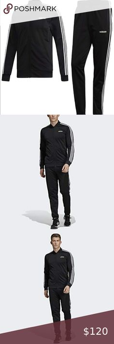 Discover recipes, home ideas, style inspiration and other ideas to try. Adidas Pants, Adidas Men, Track Suit Men, Black Adidas, Mens Suits, Going Out, Black Jeans, Stripes, Fashion Design