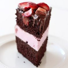 Homemade Chocolate Covered Strawberry Ice Cream Cake is delightfully fruity, frosty, and impressive, making it the perfect cake