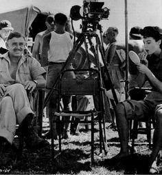 on the set of Mogambo (1953)