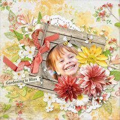 "Layout with ""Garden Time"" by karena design Free Digital Scrapbooking, Design Layouts, Project 365, Vintage Ephemera, Journal Cards, Flourish, Word Art, Swirls, Graffiti"