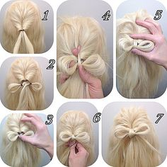 from the picture of the * 朝 颜 映 落花 * - Trend Scrunchie Hairstyles Curly Hair Up, Curly Hair Styles, Kawaii Hairstyles, Up Hairstyles, Bow Hairstyle Tutorial, Hair Arrange, Silk Hair, Love Hair, Hair Designs