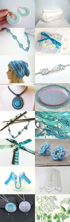Simply Aqua by Tronell on Etsy--Pinned with TreasuryPin.com https://www.etsy.com/shop/LaVieBoeretroos
