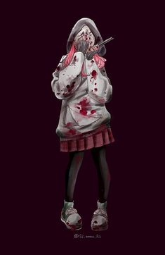 dead by daylight Horror Movie Characters, Horror Movies, Anime Characters, Arte Horror, Horror Art, Character Art, Character Design, Zombie Girl, Monster Girl