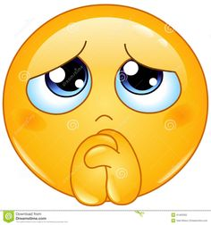 Begging emoticon Stock Photography