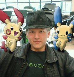 Pokemon Photoshop Plusle and Minun by ZeroTheTrue