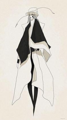 Awesome fashion illustrations by London-based illustrator and designer Velwyn Yossy - http://www.velwyn.com