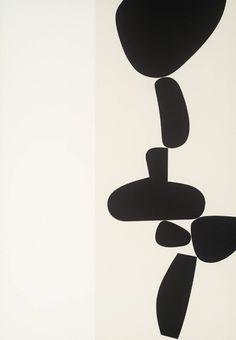 Artwork page for '[no title]', Victor Pasmore, 1971 Black And White Painting, White Art, Black White, Victor Pasmore, Art Blanc, Modern Art, Contemporary Art, Paperclay, Grafik Design