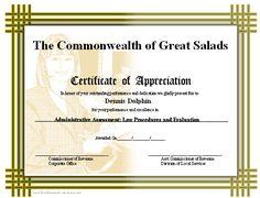 samples of certificate of appreciation