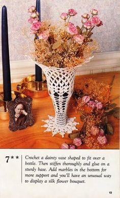 Crochet vase #07  ♥LCB♥ with diagram