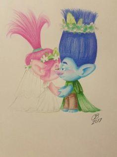 Poppy And Branch, Troll, Poppies, Disney, Poppy, Disney Art