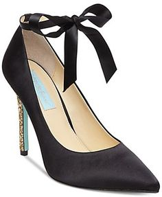 Blue By Betsey Johnson Bri Ankle-Tie Evening Pumps