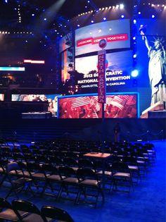 North Carolina's seating section at #DNC2012