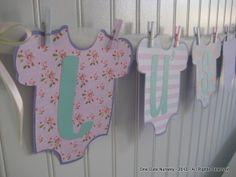 One Cute Nursery: Shabby Chic Baby Shower Decor - Vintage Style