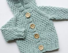 Knitting Newborn Pants | Hooded Cardigan pattern by Sarah Cooke