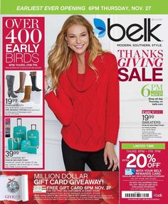 Belk Black Friday 2014 Ad Page 1