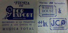 Tarjeta de For Export de Ramos Mejía de comienzo de los 80, fuimos con mi primo Lalo.