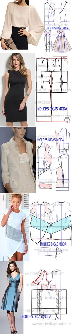 Sewing Patterns - Coat Patterns - Jacket Patterns - Bolero Pattern - Skirt Patterns - Blazer Pattern - Sewing Tutorials - Sewing E-book Sewing Patterns Free, Free Sewing, Sewing Tutorials, Clothing Patterns, Dress Patterns, Sewing Projects, Sewing Dress, Diy Dress, Sewing Clothes