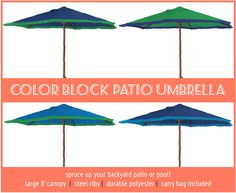 Don't miss this SALE! The Color Block Patio Umbrella is a bestseller, and it's been marked down from $69.99 to $47.99!  Take advantage of this deal at Eagles Online and add it to your shopping cart - you'll be able to use it for the rest of the summer while the sun is still hot.