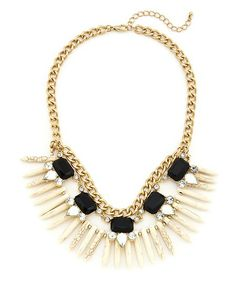Endless Summer Necklace - Black and Ivory