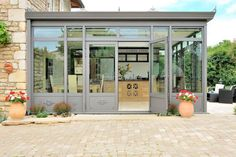 Helpful winter garden tips that you should keep in mind when planning - Umbau - Chalet Extension, Cottage Extension, Edwardian Haus, Modern Glass House, Glass Porch, Glass Conservatory, Sunroom Addition, Porch Plans, Double Vitrage