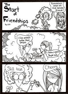 The Start of Friendships Comic