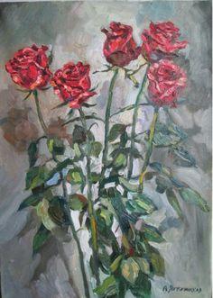 Картины :: Пять роз | Купить картину у художника