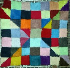 Tunisian 10-stitch sampler from left-over yarn (Stella Rose) http://www.ravelry.com/patterns/library/tunisian-crochet-ten-stitch-blanket