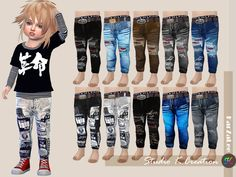 Lana CC Finds - Giruto42 Slim fit jeans for toddler