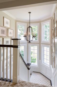 white and dark wood staircase