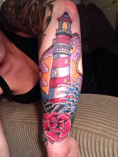 Lighthouse tattoo!