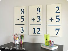 Pottery Barn Kids inspired flashcard wall art --- great for a child's room or playroom!