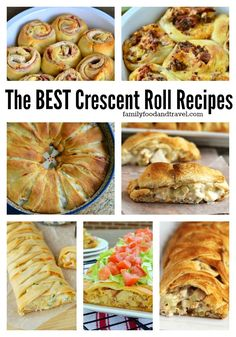 Best Crescent Roll Recipes - have a tube of crescent rolls in your fridge? We have the ultimate list of the best crescent roll recipes you can make. Delicious and so easy! Pillsbury Crescent Roll Recipes, Pilsbury Recipes, Cresent Roll Appetizers, Crescent Roll Ring Recipes, Recipes With Cresent Rolls, Crescent Dough Sheet Recipes, Pillsbury Croissant, Pillsbury Dough, Creasant Roll Recipes
