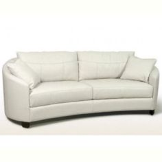 """Couture Hug sofa List Price: $1769  Color: White fabric  Dimensions: 89""""L x 42""""D x 33""""H  Availability: Call For Availability"""