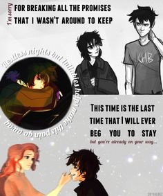 That moment when you realize that Percy Jackson has let nico down so many time but nico still looks up to him...