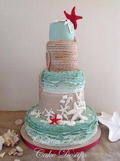 Wedding at the beach - Cake by Orietta Basso | CakesDecor.com
