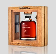 Rhum Karukera - Fût 65 - guadeloupe - Packaging design by Cigars And Whiskey, Whisky, Whiskey Bottle, Label Design, Box Design, Package Design, West Indies, Tequila, Brand Expert